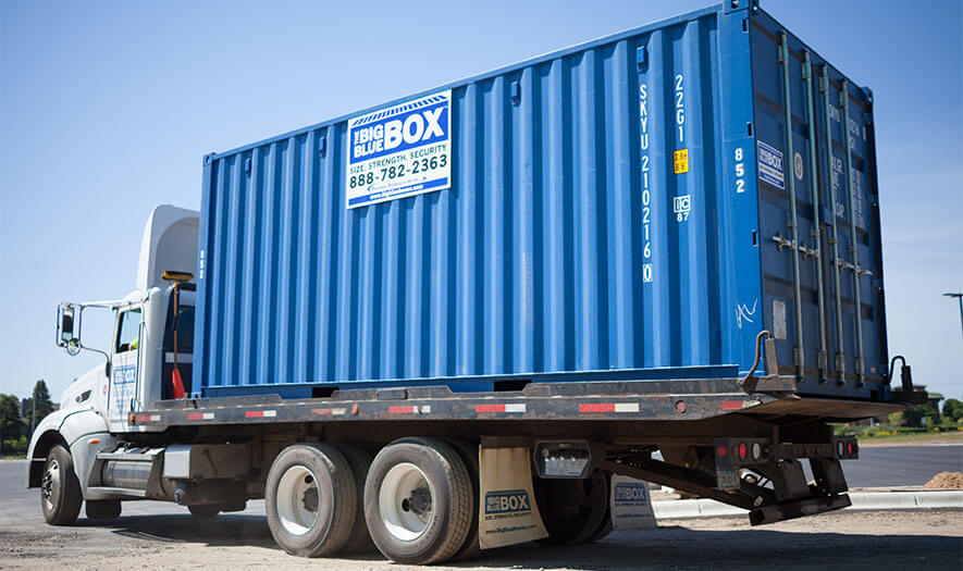 Portable Storage Containers For Rent Big Blue Boxes