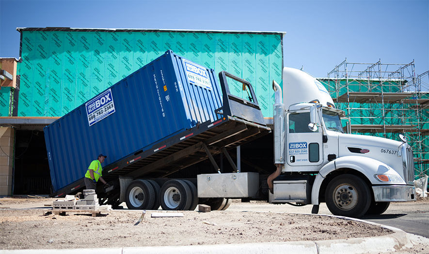 Commercial Storage Containers for Rent Big Blue Boxes
