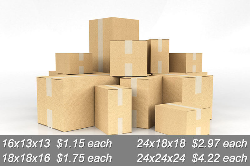 Premium Cardboard Moving Boxes