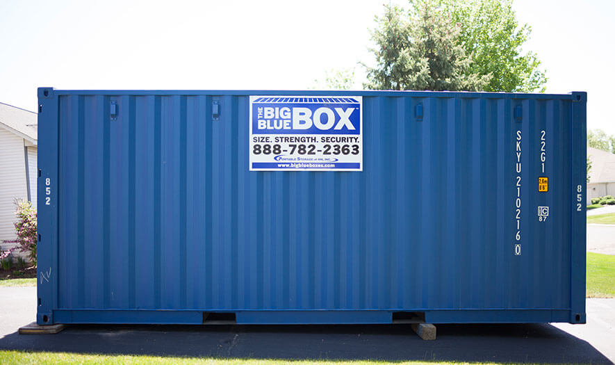 Renting A Pod For Storage : Mini storage containers for rent or sale big blue boxes