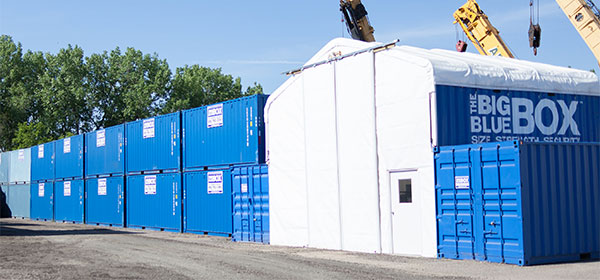 Secure On-Site Storage for Portable Storage Containers
